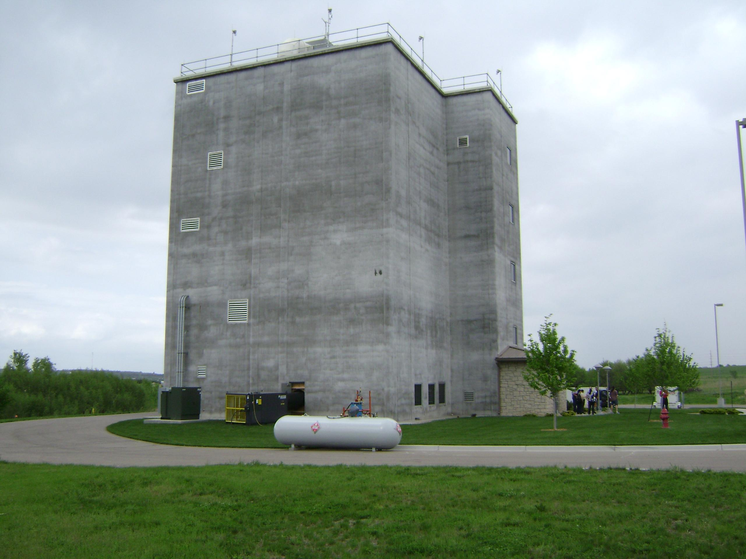 An outside view of a flour mill