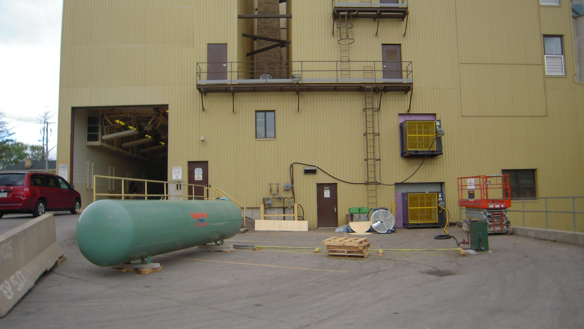 Outside view of a rice flake plant