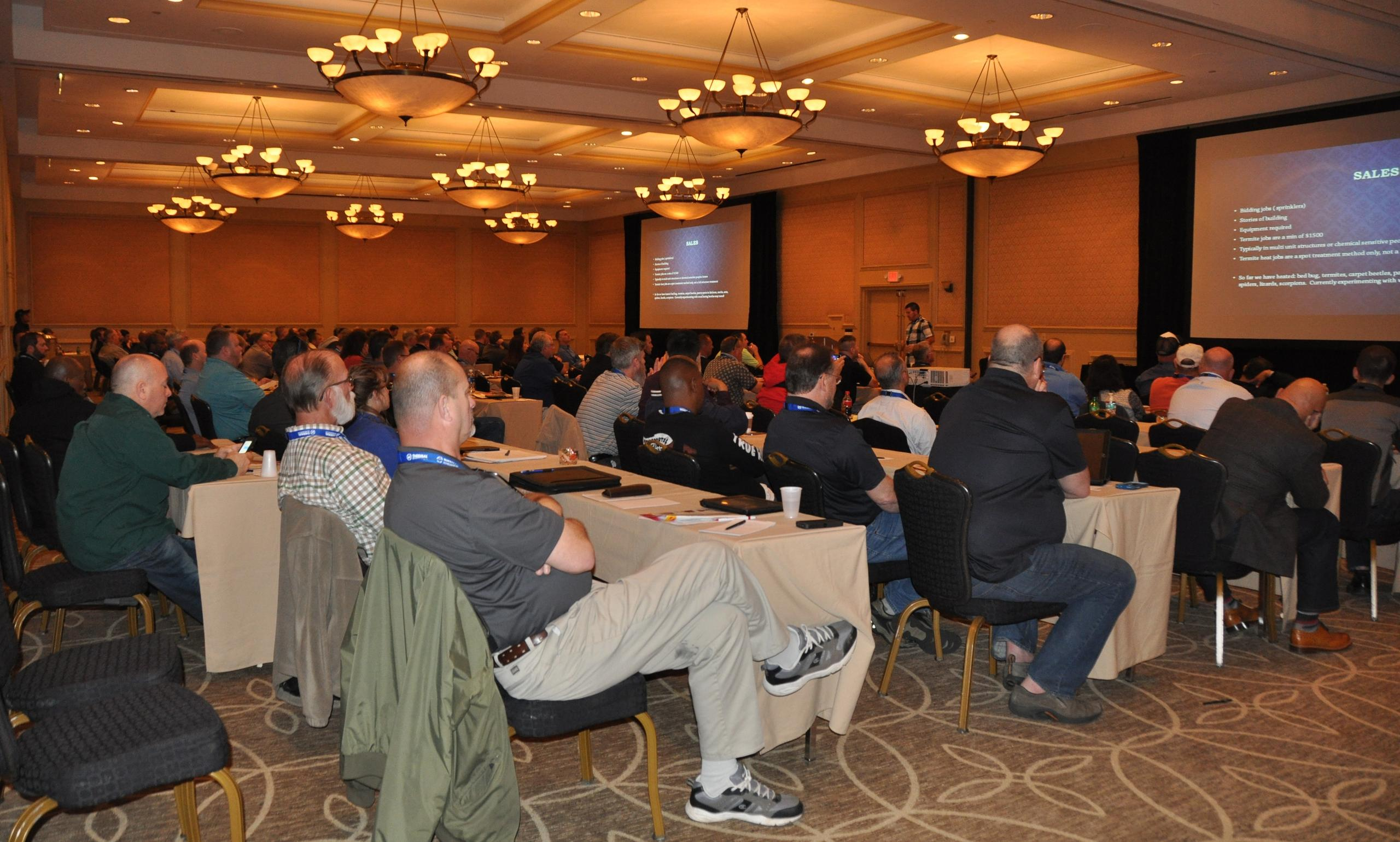 People sit and listen during Thermal Remediation's annual Bed Bug National Conference.